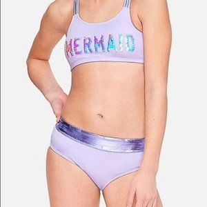 Purple 2 Pcs Justice Bikini Swimsuit Size 10